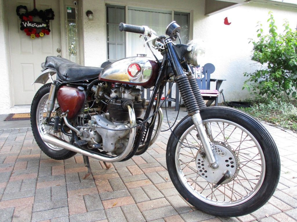 1957 BSA B31 A10 Original Cafe Racer Barn Garage Find